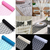 12 X 10Yards Vintage Lace Roll Fabric Tulle Table Runner Chair Sash Tulle Roll Tutu Skirt