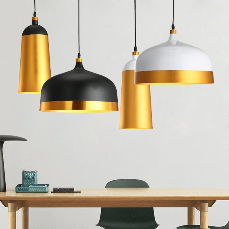 E27 Art Aluminium Hanglampen restaurant cafe bar Hanglamp zwart en - Binnenverlichting
