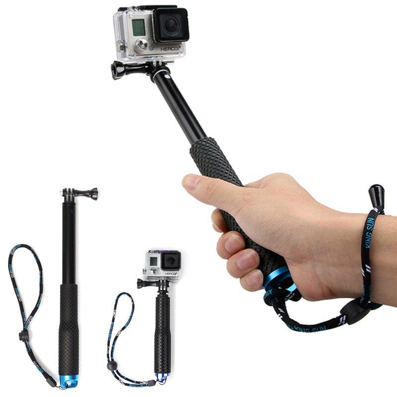 36 pulgadas extensible auto selfie Stick para SP POV pole handheld monopod Dive desde GoPro Hero 6 5 4 3 + 3 2 sj4000 deporte Cámara