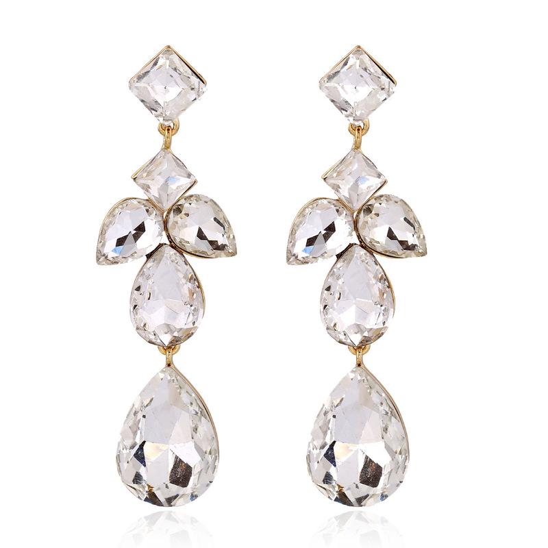 Earings Fashion Jewelry European Fashion Luxury High Quality Water Crystal Jewel Banquet Deserve To Act The Role Of Earrings in Earrings from Jewelry Accessories