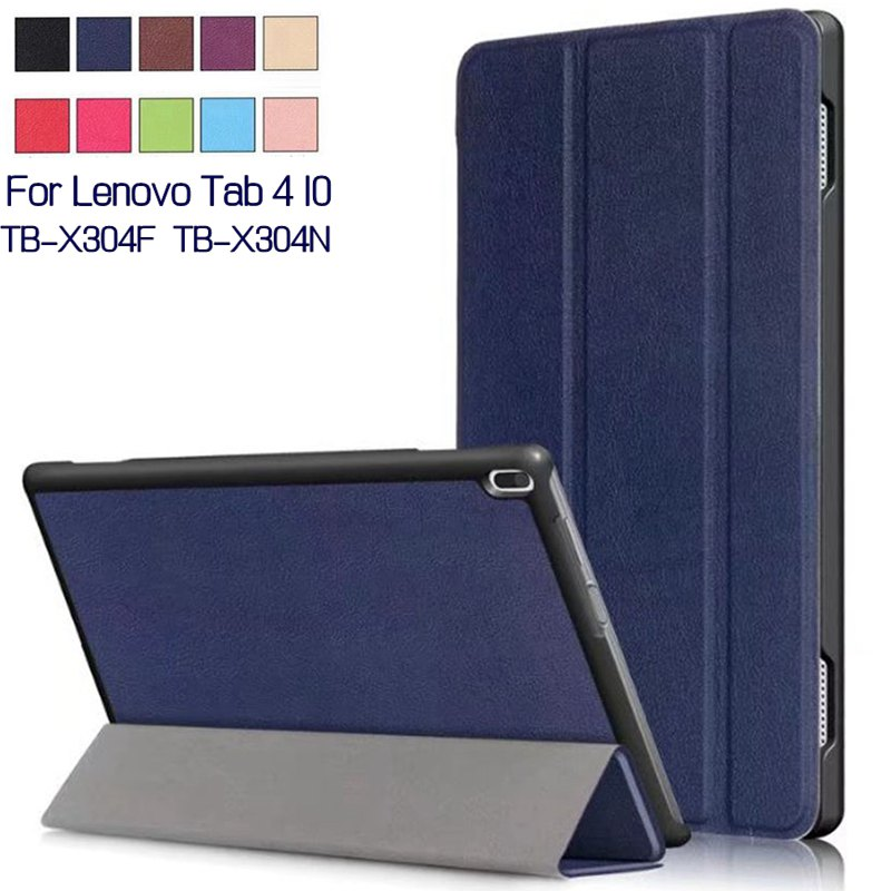 Case For Lenovo Tab 4 10 TB-X304F TB-X304N 10 Tablet Stand Smart PU Leather Funda Cover With Auto Sleep/Wake+Screen Film+Pen magnetic stand smart pu leather cover for lenovo tab 4 8 tb 8504f 8504n 8 0 tablet funda case free screen protector stylus pen