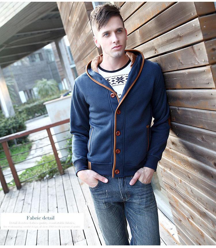 Mwxsd marca para hombre otoño sudaderas con capucha para hombres - Ropa de hombre - foto 6