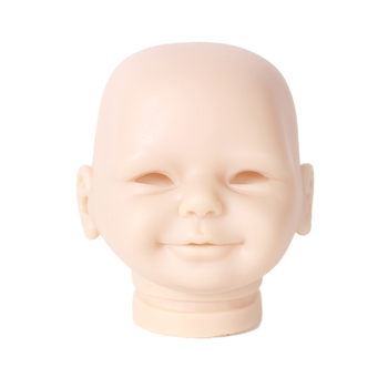 50cm Reborn Doll Kit DIY Lifelike Soft Silicone Vinyl Real GentleTouch Unpainted Doll Part Unfinished Relieve Pressure Art Works