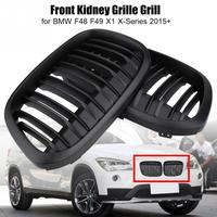 1 Pair Car Front Kidney Grille Grill Car Styling for BMW F48 F49 X1 X Series 2015 +