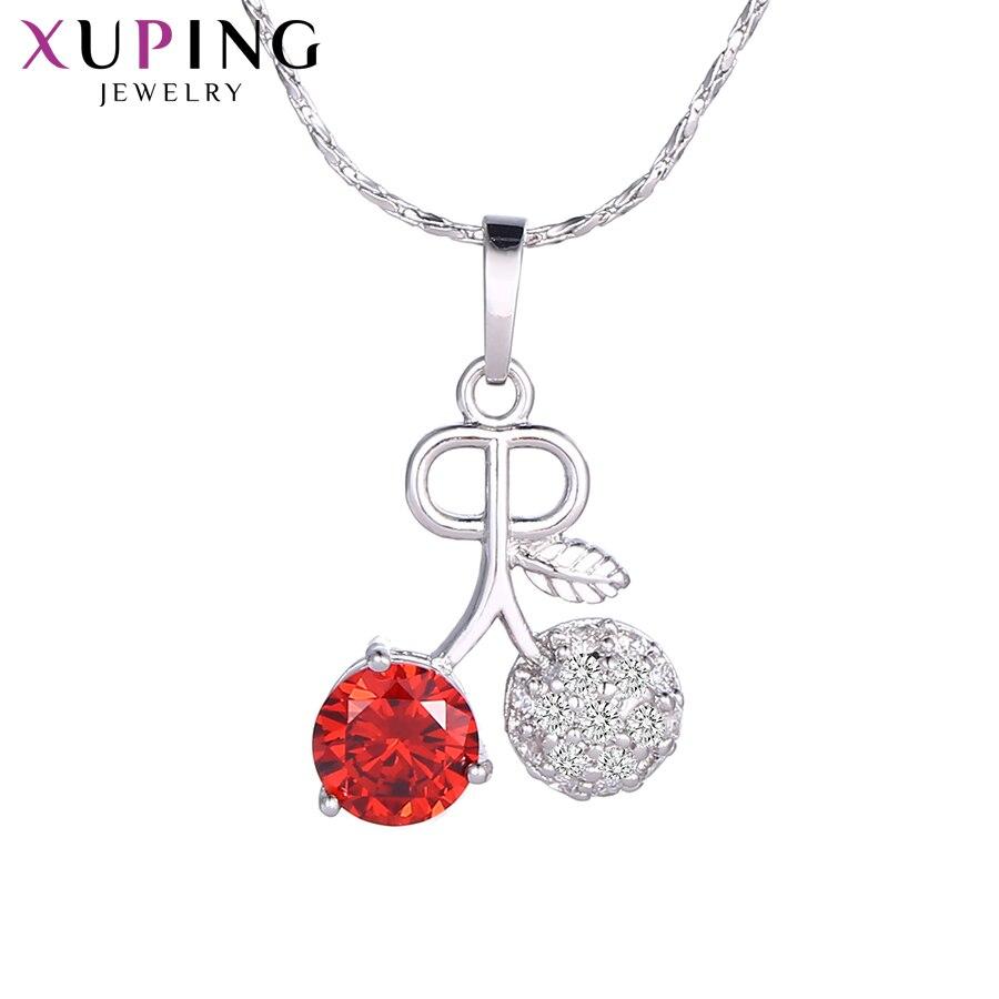 11,11 сделок Xuping Fashio ElegantCherry узор Подвеска Шарм Дизайн украшения для Для женщин подарок на день матери M34-30075