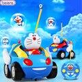 Мультфильм Doraemon Дистанционного Управления Автомобилем Beiens Бренд Детский RC Игрушки бесплатная Доставка ABS Высокого Качества Желтый Красный Мило Весело Для дети