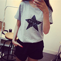 2016 star pattern small loose tee women T-shirt wholesale
