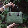 Новая Мода 2017 Женщин Из Натуральной кожи Сумка сумки Сумка Аллигатор Pattern женщины Браслет сумка высокое качество