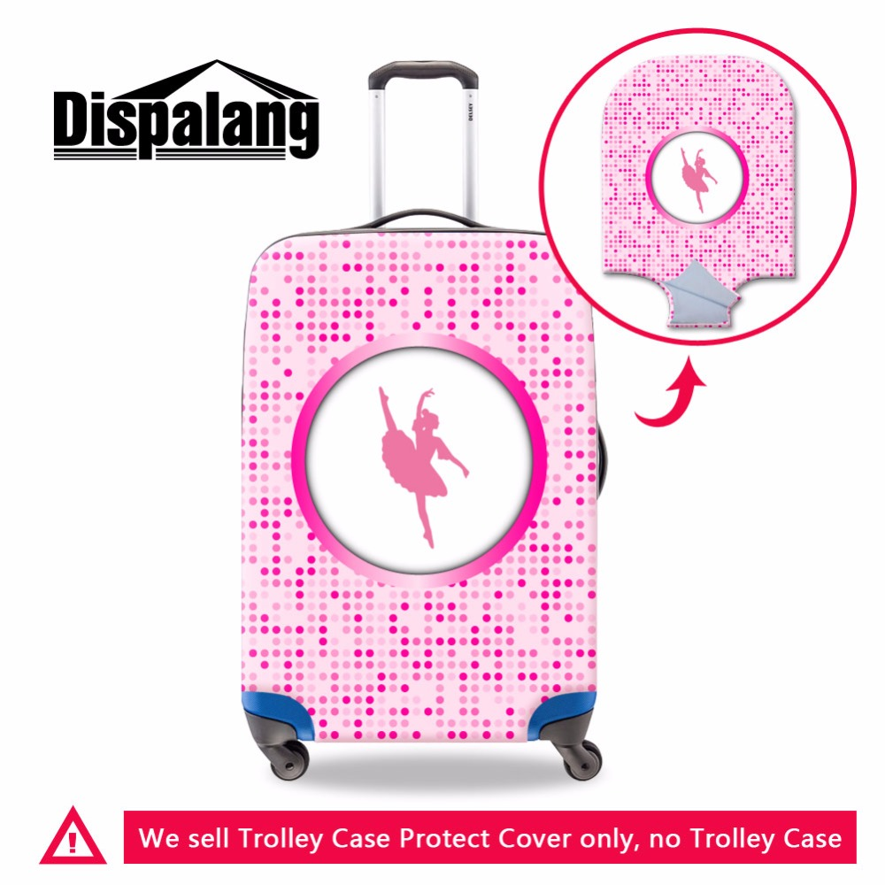 Dispalang Brand Ballet Girls Luggage Cover Unique Pink Cover For Suitcase Latest Design Elastic Luggage Protector Rain Covers
