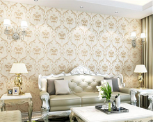 цена на beibehang Jane Europe bronzing carved nonwoven wallpaper living room bedroom background wall papel de parede 3d wallpaper tapety