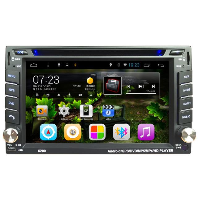 AUTO 6.2 En Android 4.4 Pantalla Táctil de Coches Reproductor de Vídeo DVD Bluetooth Estéreo Radio MP5 Car Audio USB Electrónica Automotriz En DashJAN22