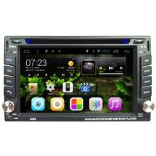 АВТО 6.2 В Android 4.4 Автомобильное Видео Плеер DVD С Сенсорным Экраном Bluetooth Стерео Радио Автомобильный MP5 Аудио USB Автомобильная Электроника В DashJAN22