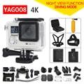 Оригинал Yagoo8 пульт дистанционного камера Ultra HD 4 К WiFi 1080 P/60fps 2.0 ЖК 170D объектив Шлем Cam перейти водонепроницаемый pro камеры