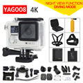 Original Yagoo8 remote Action camera Ultra HD 4K WiFi 1080P/60fps 2.0 LCD 170D lens Helmet Cam go waterproof pro camera