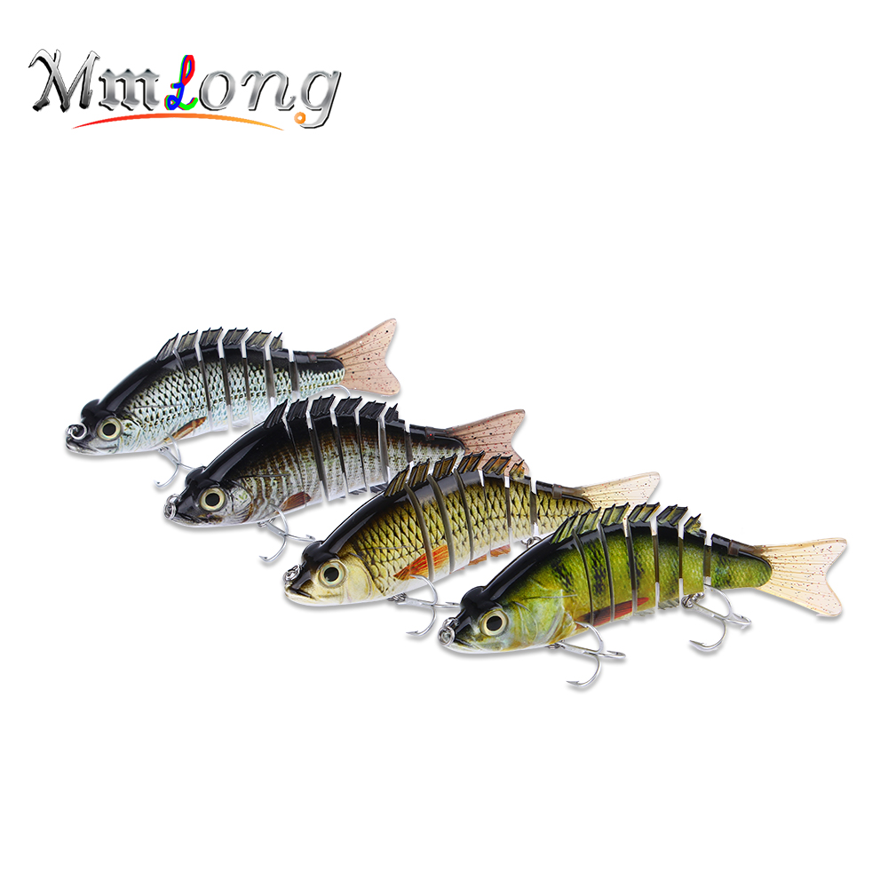Mmlong 15cm 59g Multi Jointed Fishing Lure 7 Segment Artificial Swimbait LifeLike Crankbait Slow Sinking Hard Bait Tackle ML08C