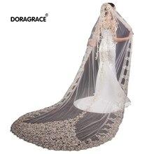 Doragrace Gorgeous 3M 1T Lace Chapel Wedding Bridal Veil With Comb