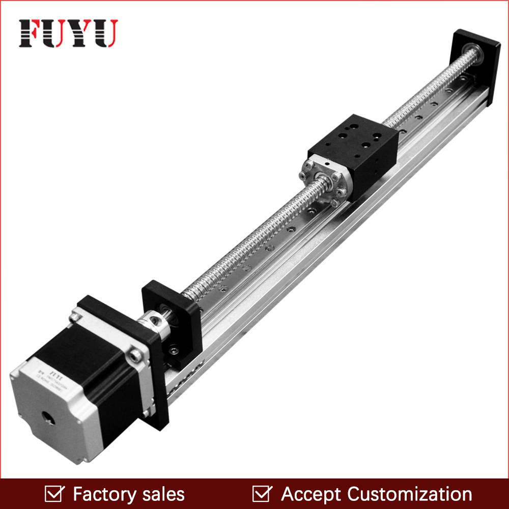 hight resolution of free shipping 700mm stroke ball screw slide stage actuator stepper motor cnc linear guide motion rail