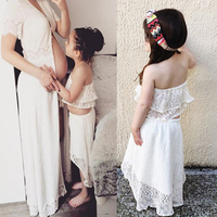 White Toddler Kids Baby Girls Outfits Clothes Tank Tops +Dress Shorts 2PCS Sets