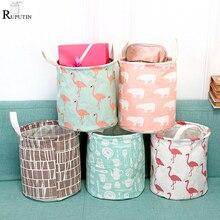 Купить с кэшбэком RUPUTIN New Laundry Hamper Bag Home Clothes Storage Barrel Kids Toy Storage Laundry Basket Bath Socks Underwear Dirty Pocket Box
