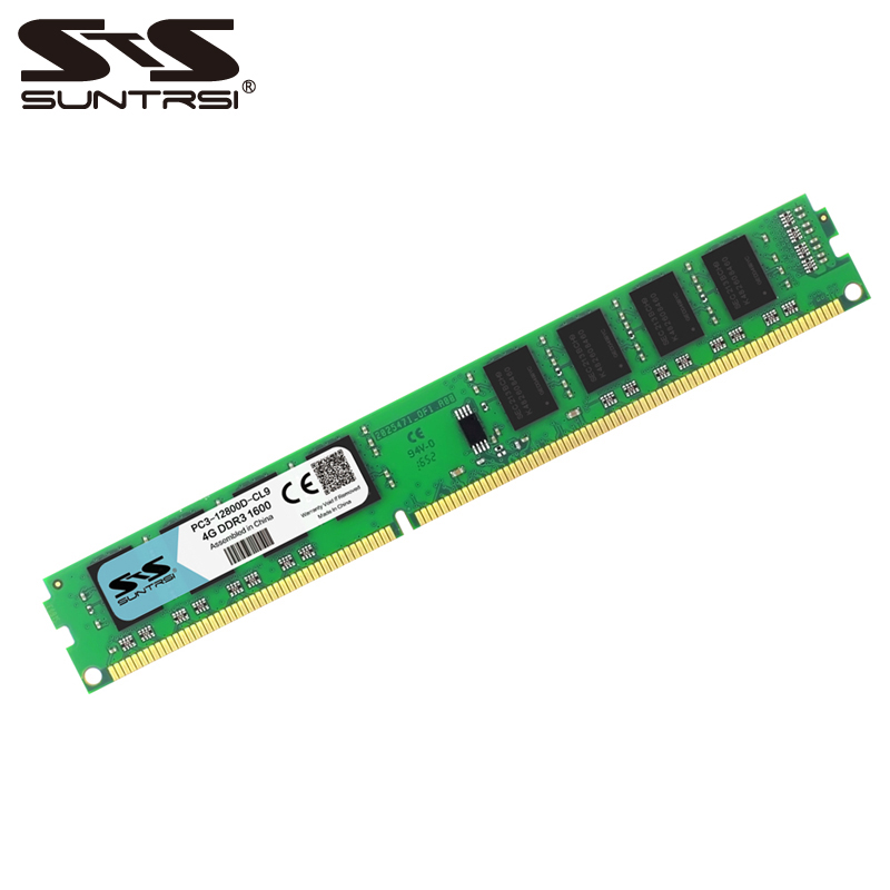 Suntrsi DDR3 Ram 4GB 1333MHz 1600MHz Desktop Memory 240pin 1.5V For Desktop Computer
