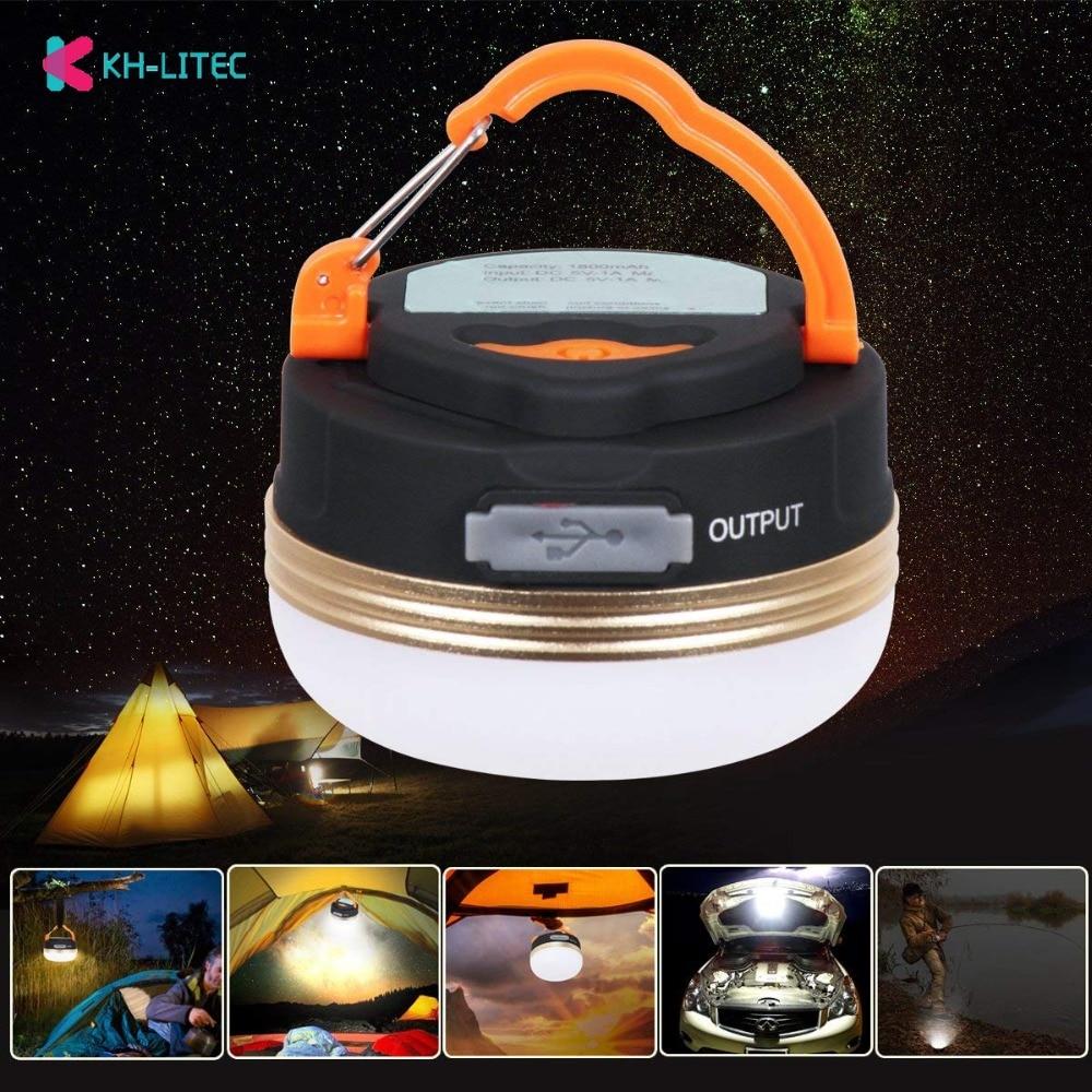 KHLITEC Mini Portable Camping luces 3 W LED Camping linterna tiendas lámpara exterior senderismo noche lámpara colgante USB recargable