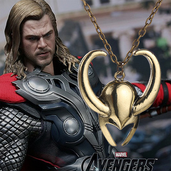Loki Helmet Necklace Golden Color Pendant 1