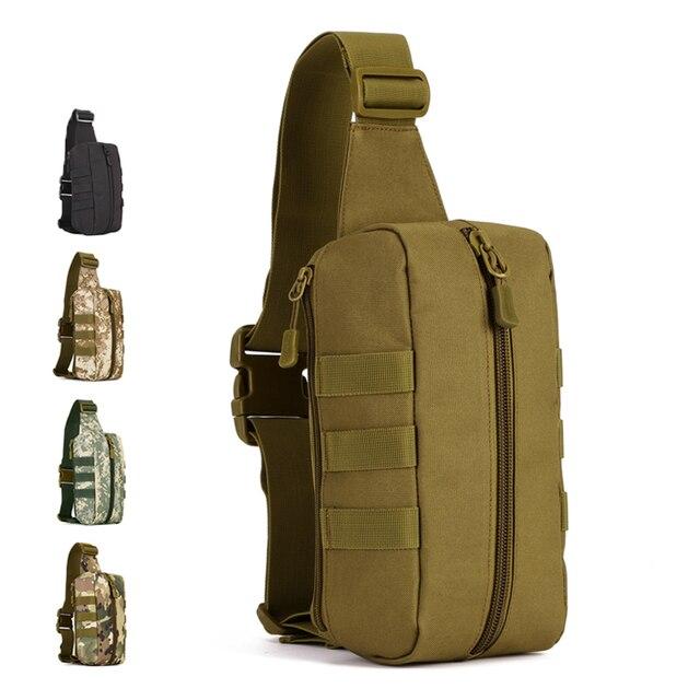 Men Durable Nylon Military Fanny Belt Loop Bag Hip Bum Waist Pack Travel Multipurpose Sling Chest Messenger Single Shoulder Bags