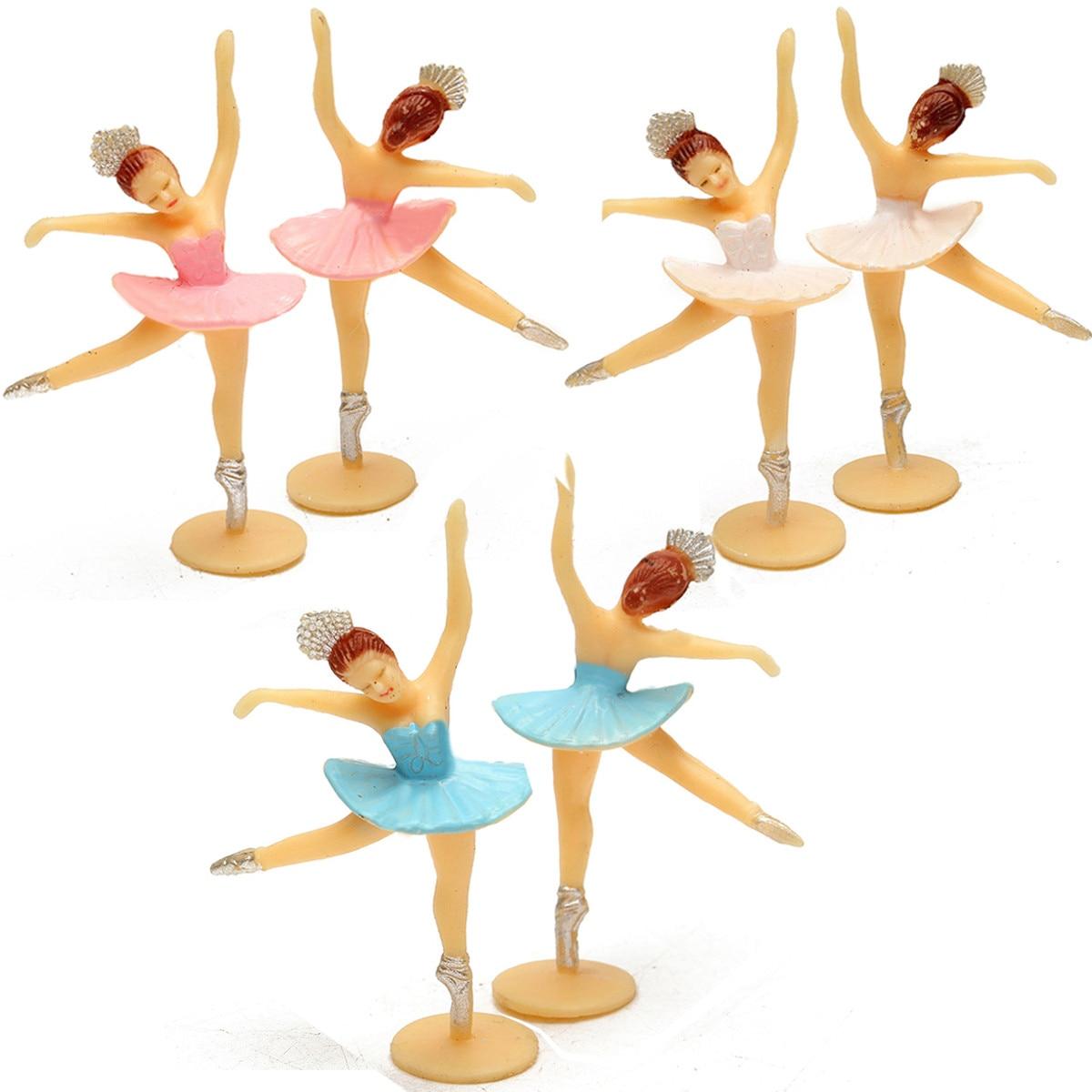 12 Pcs/set Mini Dancing Girl Favor Baby Shower Gift Kids Birthday Decor Model Toys For Children Adult Kids Accessories фигурки за торта балерина