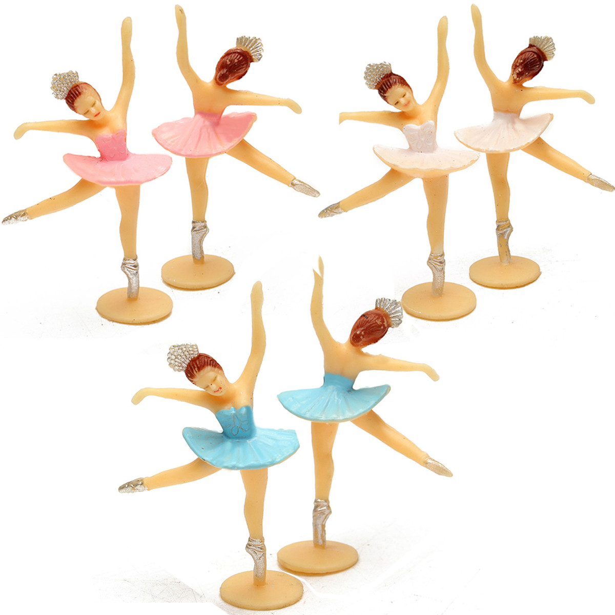 12 Teile/satz Mini Tanzen Mädchen Favor Baby Dusche Geschenk Kinder Geburtstag Decor Modell Spielzeug Für Kinder Erwachsene Kinder Zubehör Dinge FüR Die Menschen Bequem Machen