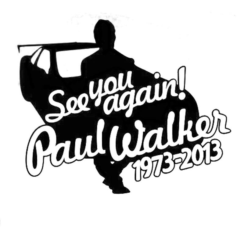 14 5cm 11 5cm Paul Walker See You Again Car Sticker Decal