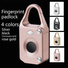 Hot Fingerprint Lock Smart Home Luggage Dormitory Locker Warehouse Door Waterproof Super Long Standby Electronic Padlock
