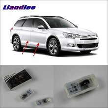 Liandlee Plug and Play Car Courtesy Doors Lights For Citroen C5 2001~2004 / Brand Logo Projector Welcome Light Ghost Shadow Lamp liandlee plug and play car courtesy doors lights for volvo s80 2013 2014 brand logo projector welcome light ghost shadow lamp