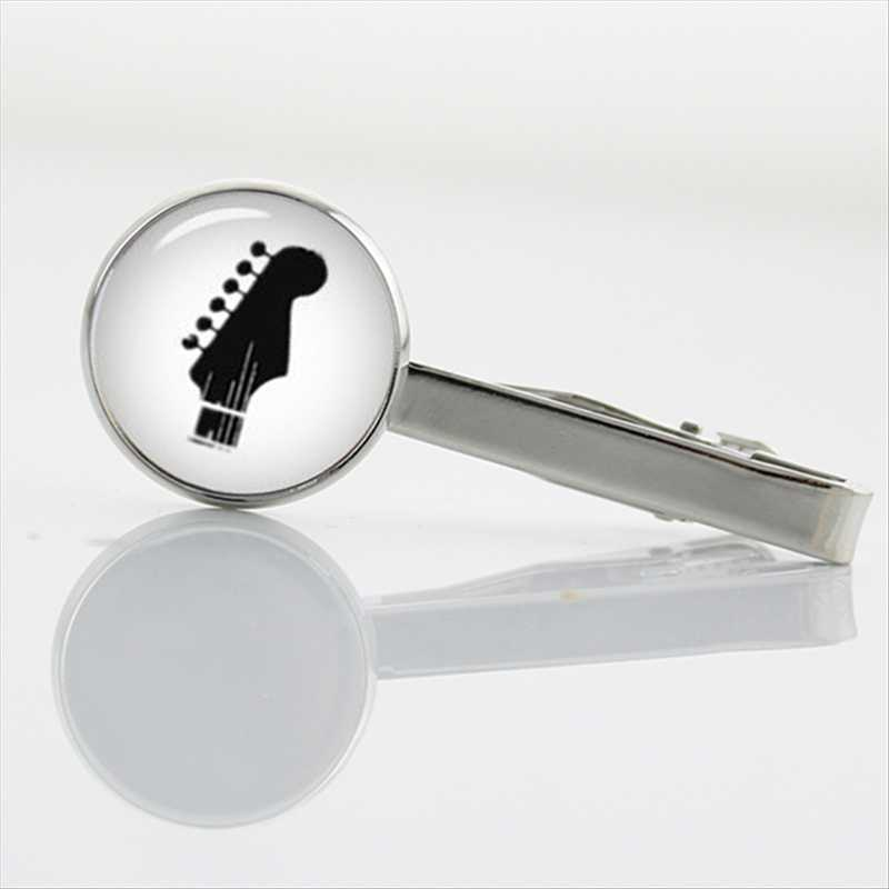 TAFREE Limited Romantic trombone Tie Clips Musical instrument silhouette Men's Accessories music Tie Bar Pin Men Jewelry T629