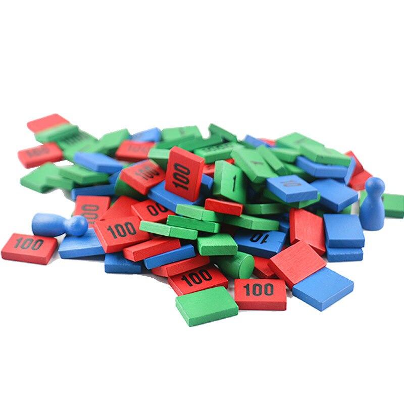 Montessori jouets en bois Montessori timbre jeu Montessori mathématiques matériaux d'apprentissage fournitures pour enfants Juguetes Brinquedos YG1064H - 3