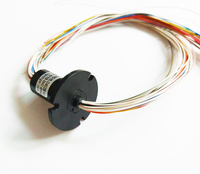 Conductive Slip Ring 24 Wires 1.5A PTZ Pan Tilt HD Slip Ring Diameter 15.5mm Spare Part