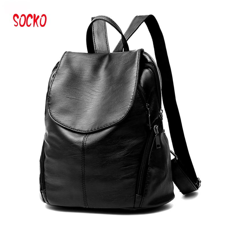 2017 Women Backpack Waterproof PU Backpack Student School Bags Girl Backpacks Female Casual Travel Bag Ladies