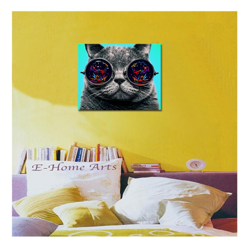 Aliexpress.com : Buy Cool Cat Canvas Poster Cat Picture Canvas ...