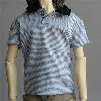 [ wamami ] 528# gris raya de la solapa chaleco / T-shirt / equipo 1/4 MSD DOD AOD stui DZ BJD Dollfie