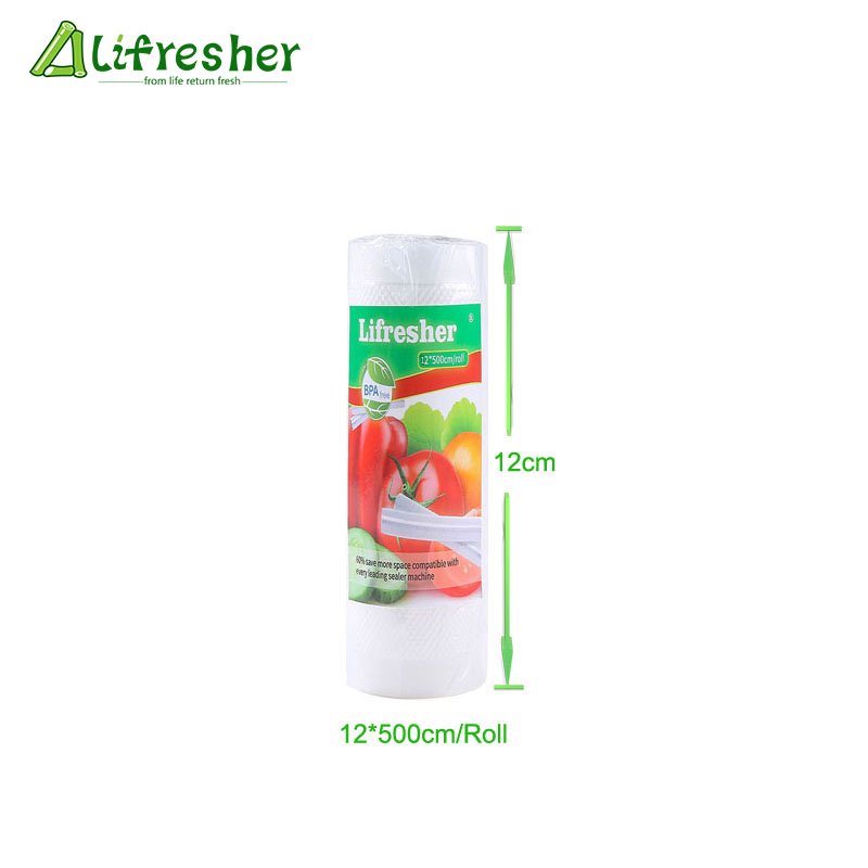 Lifresher Vacuum Sealer Bags Vacuum Sealer Bags For Food Storage 1 Roll/Lot  Kitchen Packaging 12 15 17 20 25 28 DropshippingLifresher Vacuum Sealer Bags Vacuum Sealer Bags For Food Storage 1 Roll/Lot  Kitchen Packaging 12 15 17 20 25 28 Dropshipping