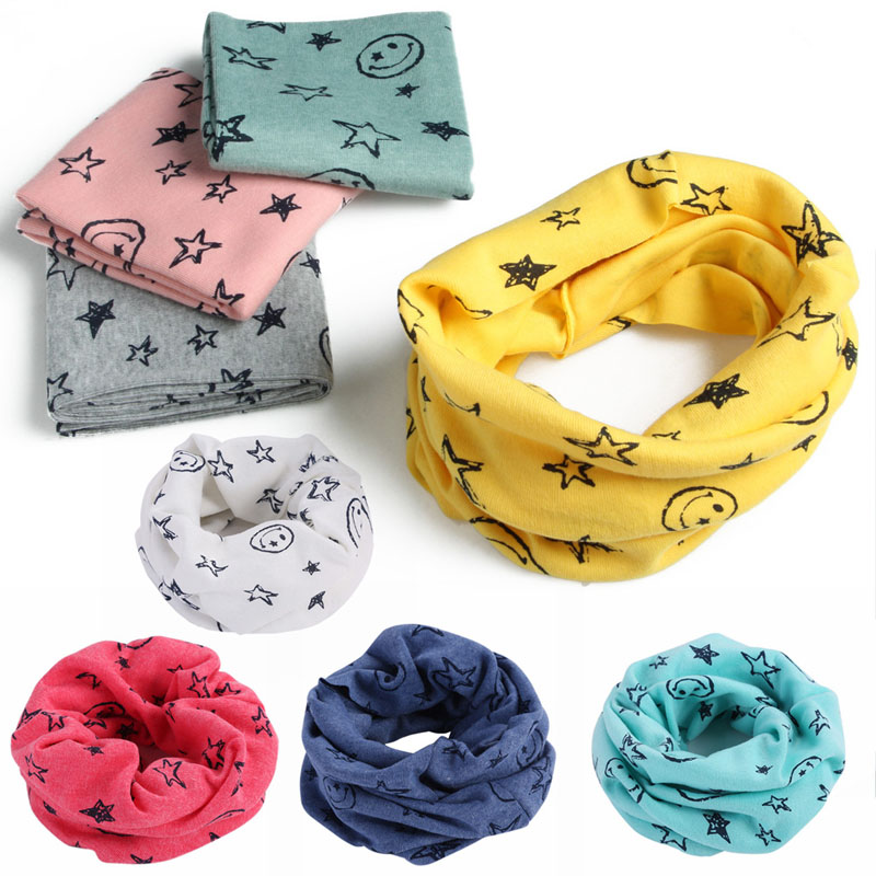 1pcs Autumn Winter Boys Girls Warm Scarf Collar Cotton O Ring Neck Wrap Scarves