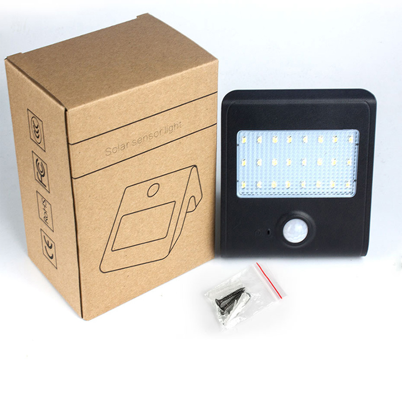 Hot Sell 24 Leds LED Solar Light Solar Powered Outdoor Lights Waterproof IP65 With PIR Motion Sensor Lamp led emergency lights