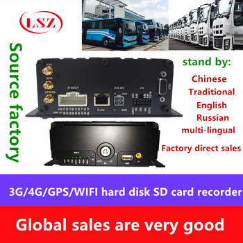 Full Netcom remote 4G GPSWIFI HD coaxial AHD car MDVR hard drive 4 road truck school wheel ship surveillance video recorder
