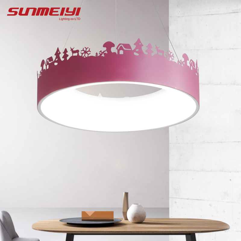 Colourful led lamp Pendant Lights Modern Vintage Hanging Lamp For Kids room Dining room lustre pendente Chandeliers Ceiling стоимость