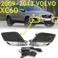 Car-styling, XC60 daytime light,2009~2013,LED,Free ship!2pcs,car-detector, XC60 fog light,car-covers,XC 60