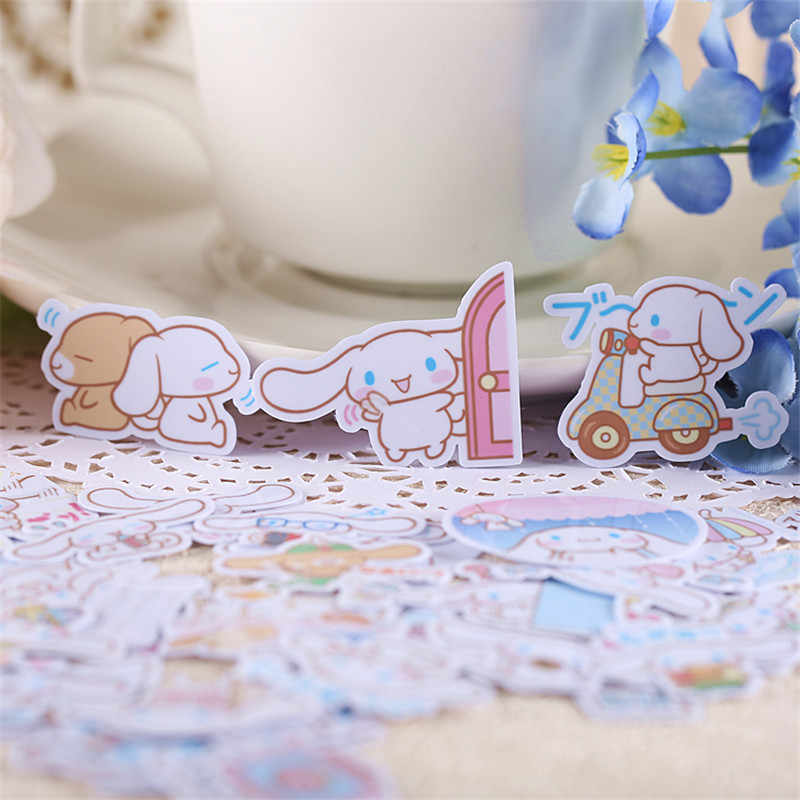 35 PCS Cute anime white dog Paper Stickers Crafts And Scrapbooking stickers kids toys book Decorative sticker DIY Stationery