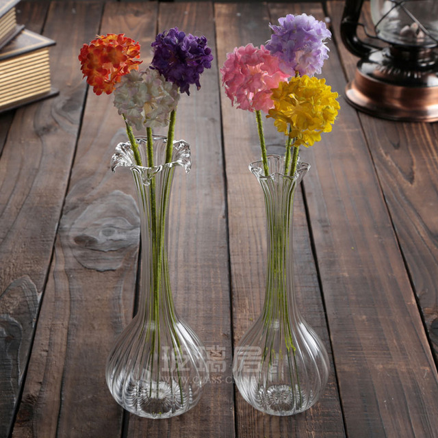 Clear Glass Vase laptop Exquisite hydroponic container modern home accessories glass table decorative vase