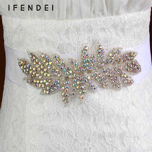 IFENDEI Cinturones Y Fajas de Boda Europea Rhinestone de Lujo Vestido de La Correa Faja Para Coser cristal Diamantes De Colores Accesorios Nupciales