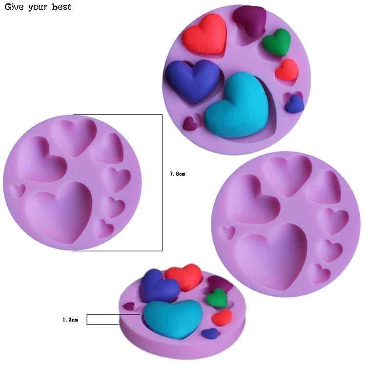 Herzform Silikon Schokoladenform Silikon Herzförmige Form Kuchen - Küche, Essen und Bar - Foto 4
