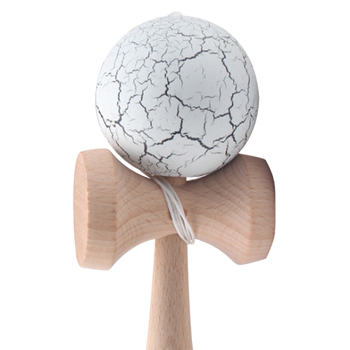MACH Crack Paint Kendama Ball Skillful Juggling Game Ball Japanese Traditional Toy Balls Educational Toys For Children-white