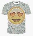 Лето стиль женщины t рубашка большой лицо Emojis принт футболки женщины тис Emoji vestidos топы рубашки девочка дамы одежда